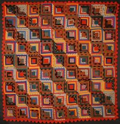 """Border and backing are cotton; body of quilt is wool challis. Lancaster County, Pennsylvania origin; measures 84"""" square"""