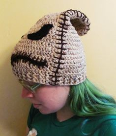Oogie Boogie Hat, Crocheted Beanie inspired by Nightmare Before Christmas, Custom any size