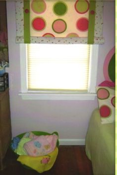 Curtains for a girl's room.
