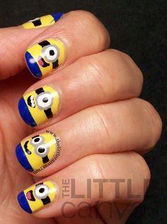 Despicable Me Minion Nails hahah