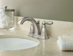 Brantford LifeShine Brushed Nickel Lavatory Faucet with Pop-up Drain   -- 6610BN -- Moen