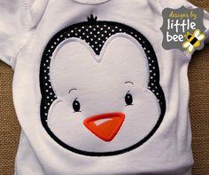 penguin boy or girl winter Christmas by designsbylittlebee on Etsy
