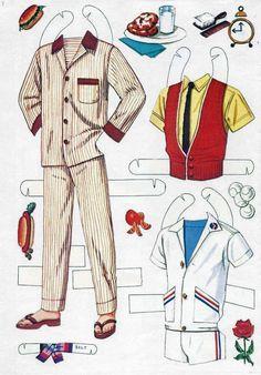 Vintage 60s BARBIE & KEN - outfits, via Etsy. http://www.pinterest.com/lovenestdesign/paper-dolly/