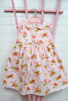 Vintage toddler clothes, baby girl dress