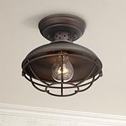 "Close To Ceiling Lights Fair Urban Barn Collection 10 14""w Bronze Outdoor Ceiling Light Design Ideas"