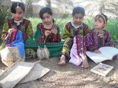 Balochi kids wearing traditional clothes