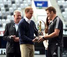 The moment when Prince William handed over the #JWC2014 trophy to @All Blacks captain Richie McCaw