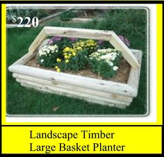 Landscape Timber Large Basket Planter