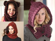 Video - Fight the cold months with this crochet hooded neck warmer! Crochet Hooded Scarf, Crochet Beanie, Crochet Scarves, Crochet Clothes, Knitted Hats, Crochet Woman, Crochet Lace, Crochet Stitches, Crochet Patterns