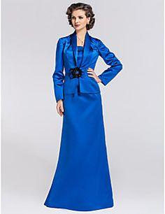 6a7740eedb1 LAN TING BRIDE Trompette   Sirène Grande Taille Petite Robe de Mère de  Mariée - Etole
