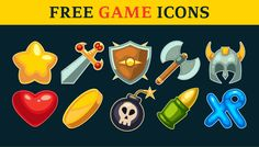 Action Game Icons Set for free #FreeIcon from http://ortheme.com