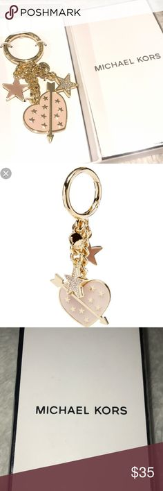 New w/ Box MK Charm/Keychain Brand new never used Michael Kors keychain/charm. So cute with soft blush color, gold, and silver. Michael Kors Accessories