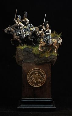 Russian Astrakhan Regiment Cuirassiers attack at the Battle of Borodino, September 1812 It's an old 1/72 polyethylene figures produced by Zvezda. Extremely hard to prepare it for painting, it takes 80…