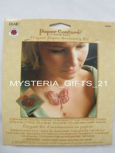 JEWELRY PAPER ACCESSORY KIT DIY BUTTERFLY 80848