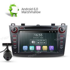 """﹩275.00. US DVR 8""""Android 6.0 Car DVD GPS For Mazda 3 10-13 CD Player Dash Stereo Radio E   Manufacturer Part Number - Does not apply, WIFI/3G - Support(3G need to buy dongle extra), CPU - Allwinner R16 1.6GHz Cortex A7 Quad-Core, Compatible with dashcams - Yes(Only for EONON R0008 USB dashcam), DAB+ Input - Need to buy EONON V0054 extra, Bluetooth - Support hands free,MP3 player,Phonebook,OBD2, Supports app installation - Yes, Steering Wheel Control - Support( CANBUS System), Mutual Con"""