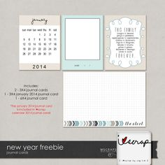 New Year Freebie :: Freebies :: Memory Scraps