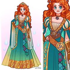 Disney Princess Redesigns Merida 🏹 [Credit: SunsetDragon]