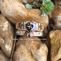 The Antlered Doe Deer Antler Jewelry, Deer Antler Ring, Deer Antlers, Her Buck His Doe, Sunflower Ring, Tribal Feather, Love Band, Mini Roses, Accessories