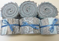 Aqua and Gray Quilt Fabric Jelly Roll Strips - SEW FUN QUILTS Time Saver Quilt Kit by SEWFUNQUILTS on Etsy https://www.etsy.com/listing/205304619/aqua-and-gray-quilt-fabric-jelly-roll