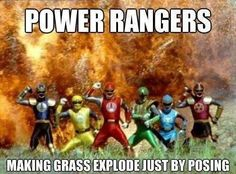 They are harming plant life. Boo power rangers and their ranger-ness!