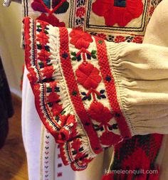 The cuff of Yavoriv embroidered shirt from the collection of Lviv Museum of Folk Architecture