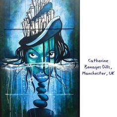 Blue graffiti, Northern Quarter, Manchester