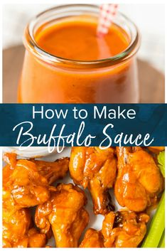 Learn How to Make Buffalo Sauce to make your buffalo wings even tastier! This Homemade Buffalo Sauce Recipe is super easy and quick to make. It's hot and tasty, and it's going to take your buffalo wings to the next level. Buffalo Chicken Sauce, Chicken Wing Dipping Sauce, Sauce Buffalo, Chicken Wing Sauces, Homemade Buffalo Sauce, Homemade Sauce, Chicken Wing Hot Sauce Recipe, Hot Wings Recipe Fried, Buffalo Wings