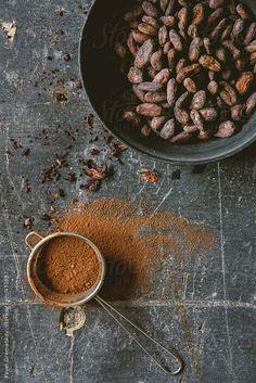 Cocoa Beans and Powder by PavelGr - Pavel Gramatikov | Stocksy United