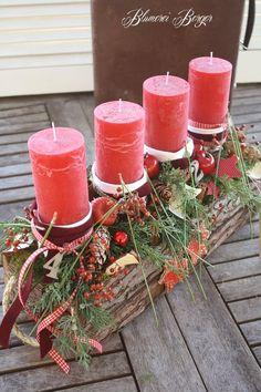 "Advent design ""Forest Love"" - New Ideas Christmas Photos, Christmas Time, Christmas Wreaths, Christmas Decorations, Xmas, Fondant Decorations, Flower Decorations, Table Decorations, Selling Handmade Items"