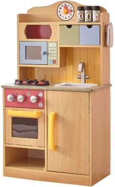 Kids Wooden Play Kitchen, Pretend Play Kitchen, Play Kitchen Sets, Play Kitchens, Kitchen Stove, Toy Kitchen, Kitchen Cook, Mini Kitchen, Kids Kitchen Accessories