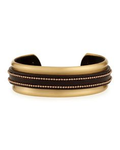 Leather Monili Cuff Bracelet by Brunello Cucinelli at Neiman Marcus. 1015$