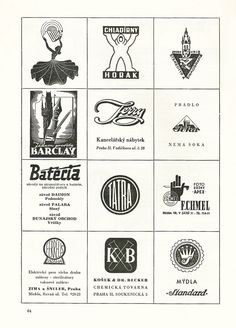 Sorry, I don't remember where I downloaded these vintage Czech logos from.