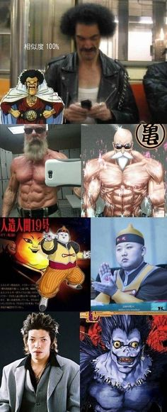 Anime character lookalikes // funny pictures - funny photos - funny images - funny pics - funny quotes - #lol #humor #funnypictures