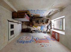 MENNO ADEN  vertigo inducing room portraits by Berlin artist Menno Aden.
