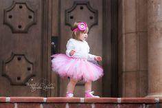 Shocking Pink and White Tutu Skirt & Headband by krystalhylton