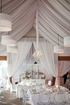 Gorgeous all white wedding reception idea; Click to see more  fabulous wedding ideas; Photo: Thisbe Grace Photography via Wedding Style Magazine