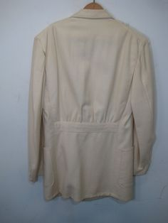 Vintage 1930's Palm Beach Belted Back Beltback Double Breasted Suit Coat Jacket