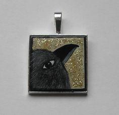 RABE von Herbivore11 Inchie für unterwegs Anhänger Rabe Raben Raven kleine Kunst