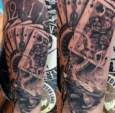 Image result for gambling royal flush tattoo