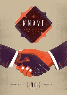 Knave, Verona Walls & Thieve - Handshake Illustration by Adam Hill.