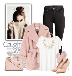 """Fashion pink"" by raquel-t-k-m ❤ liked on Polyvore featuring H&M, Carven, Forever 21, Mario Portolano and Michael Kors"