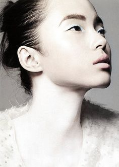 "pinterest.com/fra411 #asian #beauty - Xiao Wen Ju as a ""White Swan"" ph. by Liz Collins 