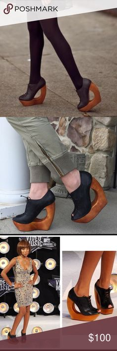 Jeffrey Campbell Rockin Lace Ups! Super SEXY! Only used once. No scuff marks. Sky-high. Genuine Leather. Shoes Platforms