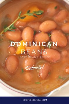 Easy Dominican Beans Dominican Beans are a classic and traditional Dominican Recipe that goes great with anything! This easy beans recipe will give you that Dominican Food flavor that's out of this world! Dominican Beans Recipe, Dominican Recipes, Easy Bean Recipes, Light Recipes, Cooking Tips, Cooking Recipes, Cooking Pork, Dutch Recipes, Soups