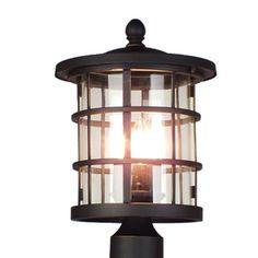 Quoizel Asheville 15.3-in H Dark Oil Rubbed Bronze Post Light