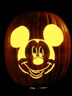 Here 39 s thomas the train on a real for Mickey mouse vampire pumpkin template