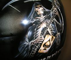 Moto Helmet Art Design #162 ~ Hand Painted Helmets - Design your helmet today..!!