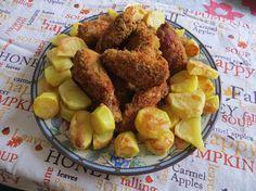 Ali di pollo croccanti con patate al forno   Ricette della Nonna