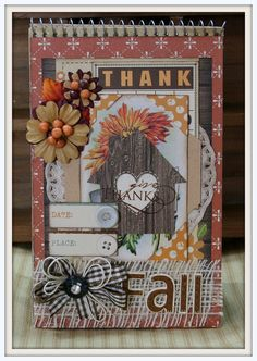 FALL INSPIRED MINI Album Give Thanks Spiral House by PollysPaper, $29.00
