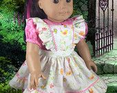 """Pinafore and Dress for American Girl 18"""" Doll"""